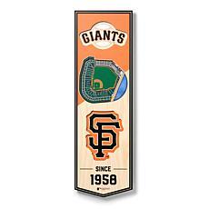 "Officially Licensed MLB 6x19"" 3D Stadium Banner - San Francisco Giants"