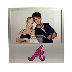 Officially Licensed MLB Aluminum Picture Frame - Atlanta Braves