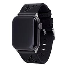 Officially Licensed MLB Apple Watch Black Leather Band 42/44mm- Bra...