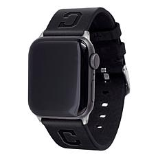 Officially Licensed MLB Apple Watch Blk Leather Band 42/44mm-Clevel...
