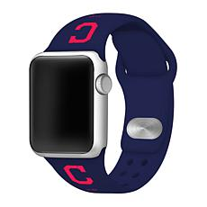 Officially Licensed MLB Apple Watchband 38/40mm - Cleveland Indians