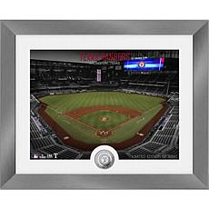 Officially Licensed MLB Art Deco Silver Coin Photo Mint - Texas