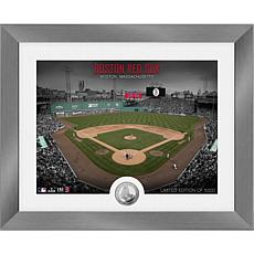 Officially Licensed MLB Art Deco Silver Coin Photo Mint - Boston
