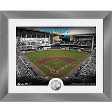 Officially Licensed MLB Art Deco Silver Coin Photo Mint - Miami