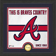 Officially Licensed MLB Battle Cry Bronze Coin Photo Mint - Braves