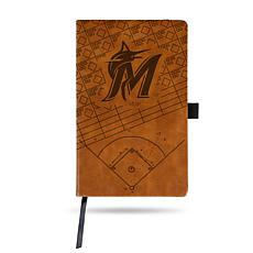 Officially Licensed MLB Brown Notepad - Miami Marlins