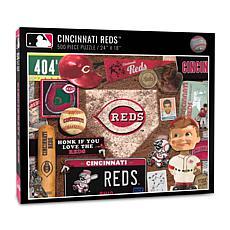 Officially Licensed MLB Cincinnati Reds Retro Series 500-Piece Puzzle