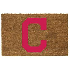 Officially Licensed MLB Colored Logo Door Mat - Indians