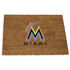 Officially Licensed MLB Colored Logo Door Mat - Marlins