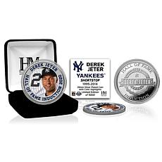 Officially Licensed MLB Derek Jeter 2020 HOF Color Silver Coin