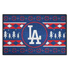 Officially Licensed MLB Holiday Sweater Mat - Los Angeles Dodgers