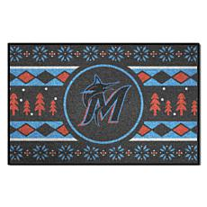 Officially Licensed MLB Holiday Sweater Mat - Miami Marlins