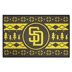 Officially Licensed MLB Holiday Sweater Mat - San Diego Padres