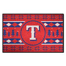 Officially Licensed MLB Holiday Sweater Mat - Texas Rangers