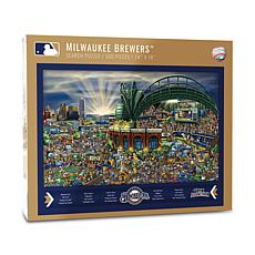 Officially Licensed MLB Joe Journeyman Puzzle - Milwaukee Brewers
