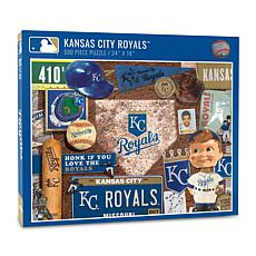 Officially Licensed MLB Kansas City Royals Retro 500-Piece Puzzle