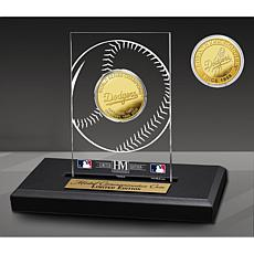 Officially Licensed MLB LA Dodgers Champions Acrylic Gold Coin