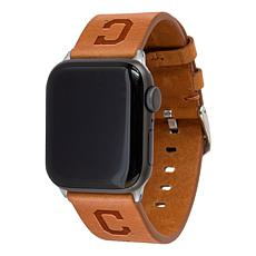 Officially Licensed MLB Leather Band for Apple Watch 38/40mm - Indians