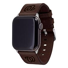 Officially Licensed MLB Leather Band for Apple Watch 42/44- Washington