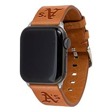 Officially Licensed MLB Leather Band for Apple Watch - Oakland