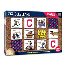 Officially Licensed MLB Licensed Memory Match Game - Cleveland Indians