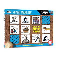 Officially Licensed MLB Licensed Memory Match Game - Miami Marlins