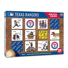 Officially Licensed MLB Licensed Memory Match Game - Texas Rangers