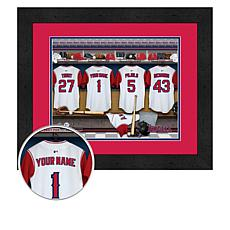 Officially Licensed MLB Locker Room Framed Print