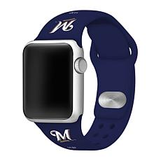Officially Licensed MLB Milwaukee Brewers Silicone Apple Watchband