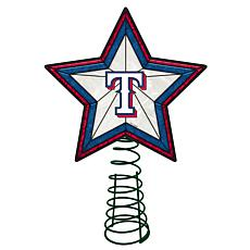Officially Licensed MLB Mosaic Tree Topper - Rangers