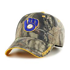 Officially Licensed MLB Mossy Oak Adjustable Hat  - Milwaukee Brewers