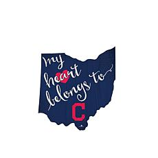 "Officially Licensed MLB ""My Heart Belongs to"" Distressed Sign"