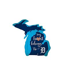 """Officially Licensed MLB """"My Heart Belongs to"""" Distressed Sign"""