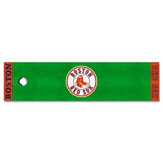 Officially Licensed MLB Putting Green Mat  - Boston Red Sox