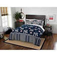 Officially Licensed MLB Queen Bed in a Bag Set - New York Yankees