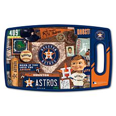 Officially Licensed MLB Retro Series Cutting Board - Houston Astros