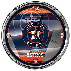 Officially Licensed MLB Shadow Chrome Clock - Astros