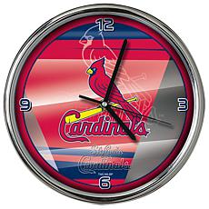 Officially Licensed MLB Shadow Chrome Clock - Cardinals
