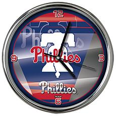 Officially Licensed MLB Shadow Chrome Clock - Phillies