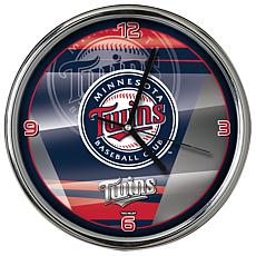 Officially Licensed MLB Shadow Chrome Clock - Twins