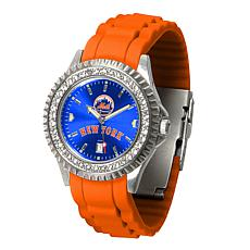 Officially Licensed MLB Sparkle Series Watch - New York Mets
