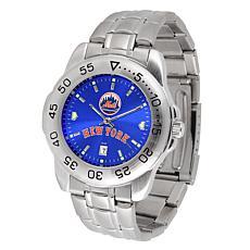 Officially Licensed MLB Sport Steel Series Watch - New York Mets