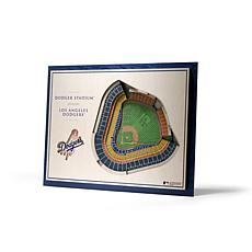 Officially Licensed MLB StadiumViews 3D Wall Art - Los Angeles Dodgers