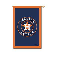 Officially Licensed MLB Team Logo House Flag - Houston Astros