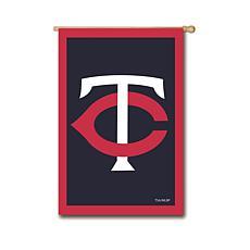 Officially Licensed MLB Team Logo House Flag - Minnesota Twins