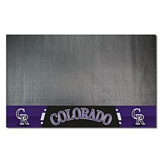 Officially Licensed MLB Vinyl Grill Mat  - Colorado Rockies