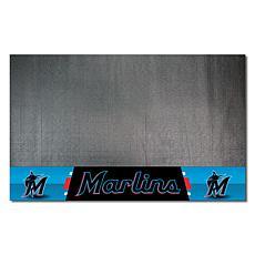 Officially Licensed MLB Vinyl Grill Mat  - Miami Marlins