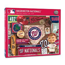 Officially Licensed MLB Washington Nationals Retro 500-Piece Puzzle