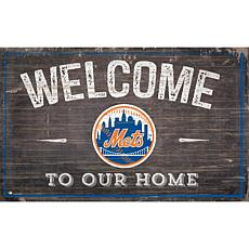 Officially Licensed MLB Welcome to our Home Sign - New York Mets