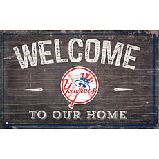 Officially Licensed MLB Welcome to our Home Sign - New York Yankees